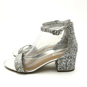 Stave Madden Glitter Sandals 9 IreneeAnkle Heel